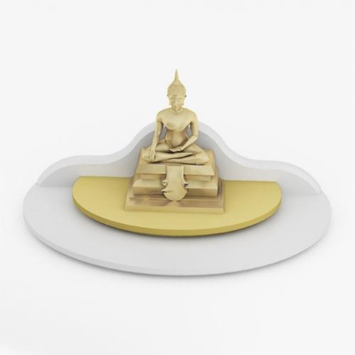 หิ้งพระขนาดเล็ก Mini Buddha Place สีขาว