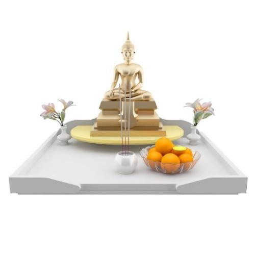 หิ้งบูชาพระ Maxi Buddha Tray สีขาว