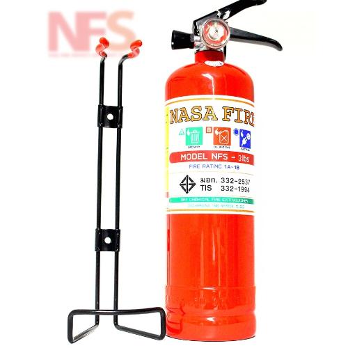เครื่องดับเพลิงเคมีแห้งขนาด 3 ปอนด์ (RATING 1A1B) พร้อมขารัด