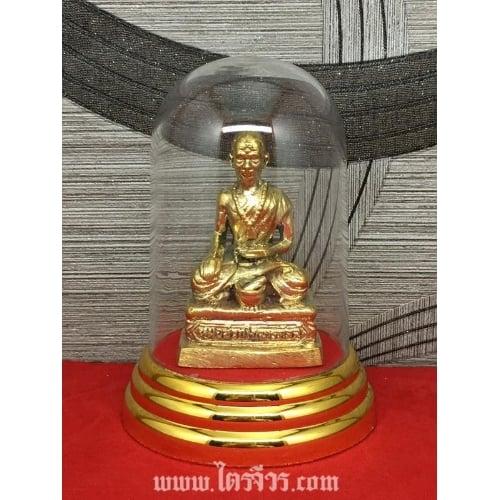 รูปหล่อ รูปปั้น องค์ชีวกโกมารภัจจ์ ทองเหลืองแท้ พร้อมครอบแก้ว
