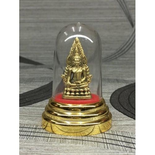 รูปหล่อ รูปปั้น องค์พระพุทธชินราช ทองเหลือง พร้อมครอบแก้ว