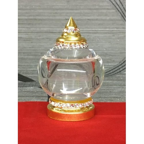 ผอบใส่พระธาตุราชครู อะคริลิค ปิดทองคำเปลวแท้ 100 %