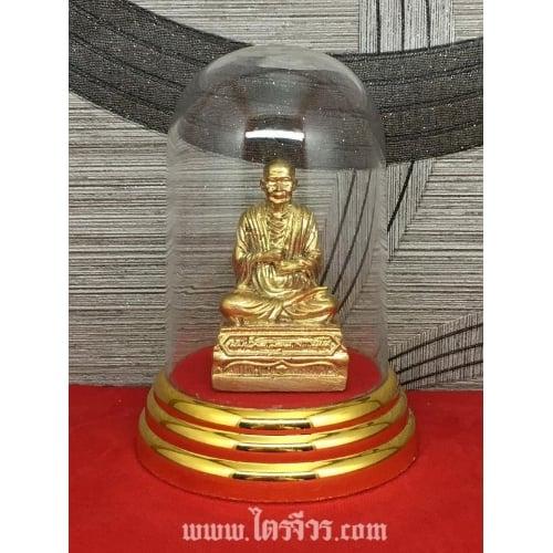 รูปหล่อ รูปปั้น หลวงปู่โต สมเด็จพระพุฒาจารย์โต ทองเหลืองแท้ พร้อมครอบแก้ว