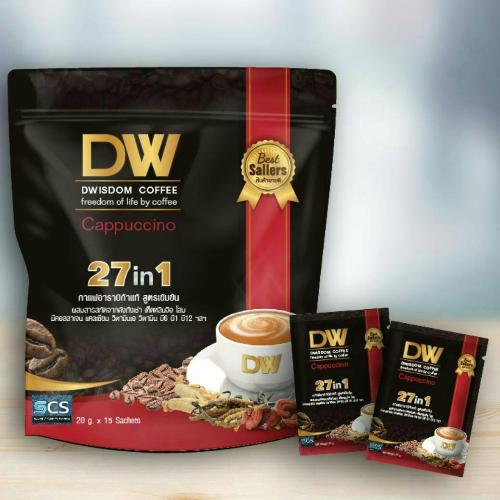 กาแฟ ดีวิสด้อม 27in1/DWISDOM COFFEE 27in1 กาแฟเพื่อสุขภาพที่คนชาญฉลาดเลือก