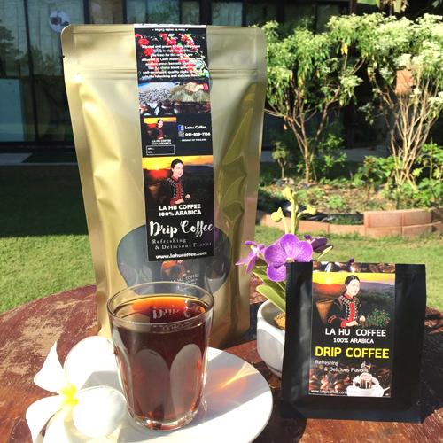 กาแฟดริป อาราบิก้า 100%  คั่วเข้ม  Arabica 100% Drip Coffee  Dark roasted (1กล่อง 10ซอง)