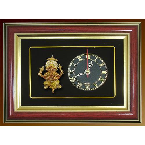 กรอบนาฬิกาพระพิฆเนศ ปางรวยทรัพย์รวยเสน่ห์ พร้อมกล่องผ้าไหม
