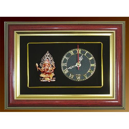 กรอบนาฬิกาพระพิฆเนศ ปางประทานพร พร้อมกล่องผ้าไหม