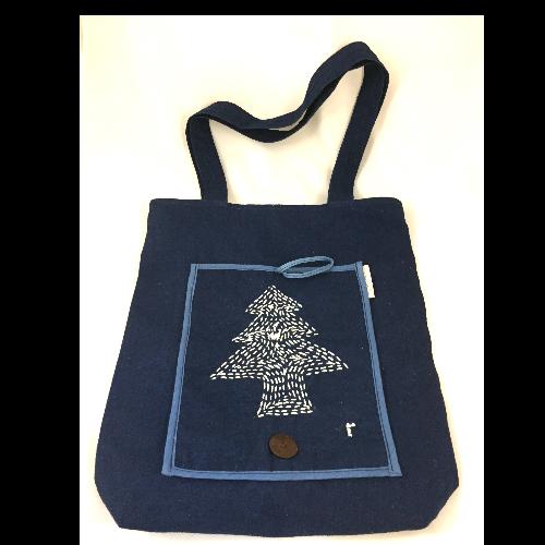 กระเป๋าลดโลกร้อนลายต้นคริสมาสต์