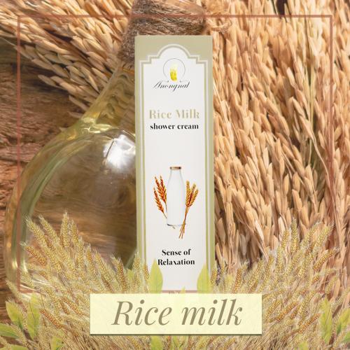 ครีมอาบน้ำAnongnat กลิ่น Rice milk ขนาด 400 มล.- Premium box