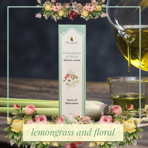 ครีมอาบน้ำAnongnat กลิ่น Lemongrass & Floral  ขนาด 400 มล.- Premium box