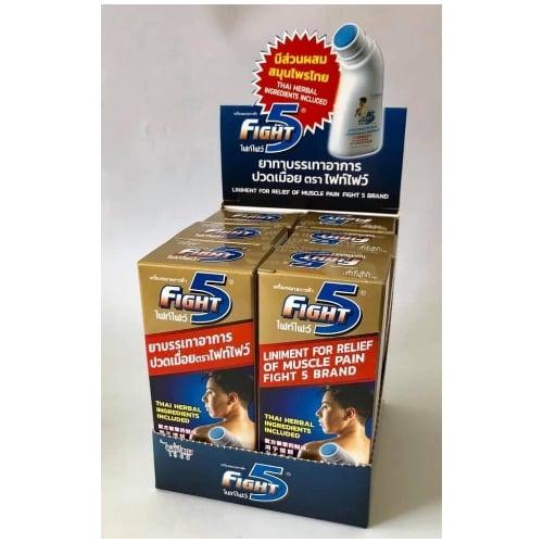 ยาทาบรรเทาอาการปวดเมื่อย ตรา ไฟท์ไฟว์ ขนาด 50 ml. 1 ชุด/6 ขวด