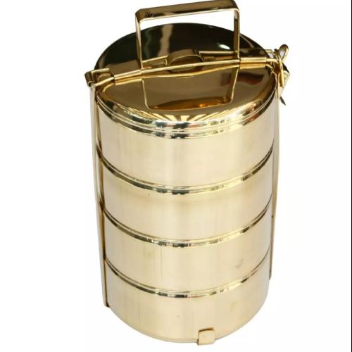 ปิ่นโตทองเหลืองขนาด14*4