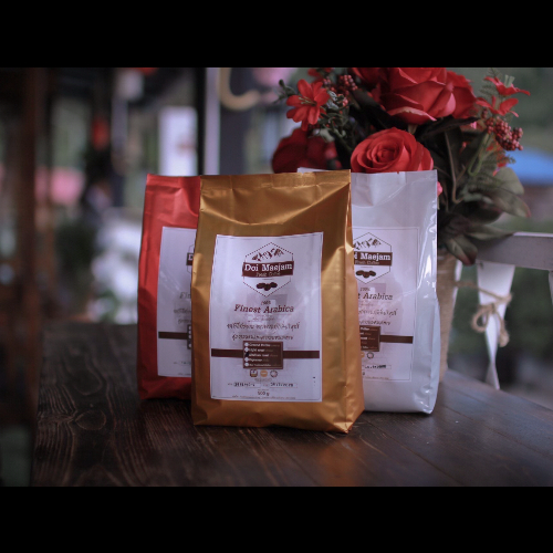 เมล็ดกาแฟคั่วดอยแม่แจ๋ม 500 กรัม ชนิดคั่วอ่อน