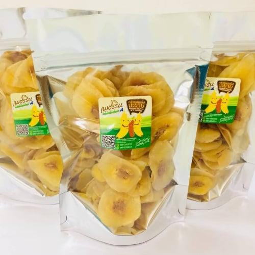 กล้วยหินสอดไส้มะขาม 1 ซองบรรจุ 100 กรัม ( 1 ชุด บรรจุ 4 ซอง)