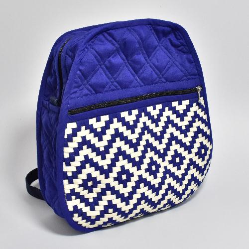 กระเป๋าเป้ผ้าสาน คละสี คละลาย