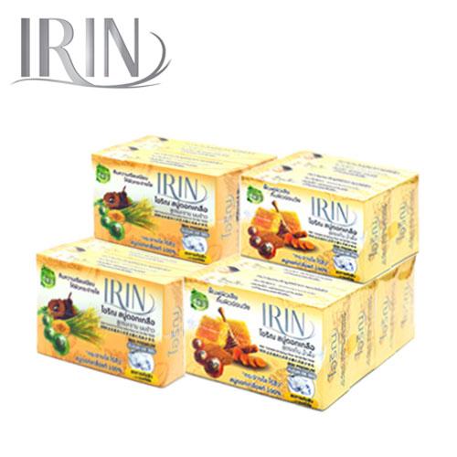 ไอริณ สบู่ดอกเกลือ 100 กรัม สูตรขมิ้นและน้ำผึ้ง สูตรมะขามและนมข้าว
