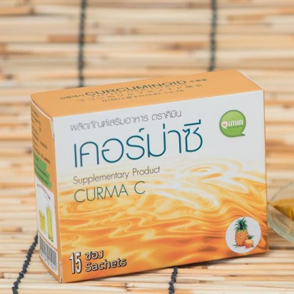 สารสกัดจากขมิ้นชันผง สูตรแต่งกลิ่นสัปปะรด ไม่มีน้ำตาล เคอร์ม่าซี