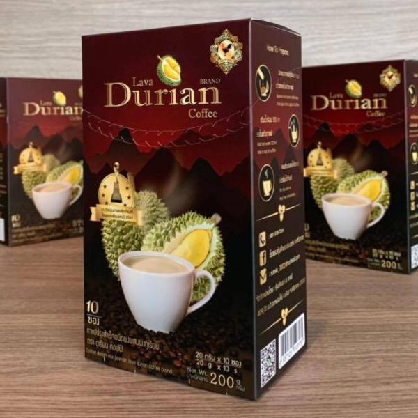 กาแฟทุเรียนภูเขาไฟ (10 ซอง/กล่อง)