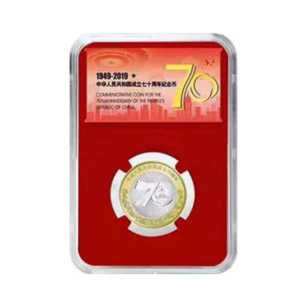 เหรียญโลหะผสม ครบรอบ 70 ปี วันชาติจีน