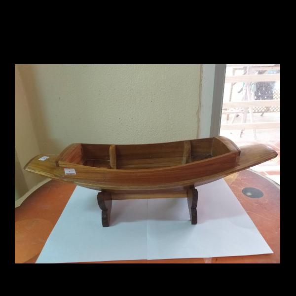 เรือเข็มจำลองไม้สัก สินค้าโอทอปบ้านท่าไม้แดง