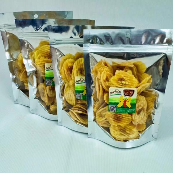 กล้วยหักมุกลายไส้มะขามถุงซิป ( 1 เซต บรรจุ 4 ห่อ )