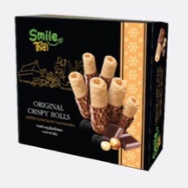 ทองม้วนชุบช็อกโกแลตและถั่วแมคคาเดเมีย(1ชุดมี 3 กล่อง)