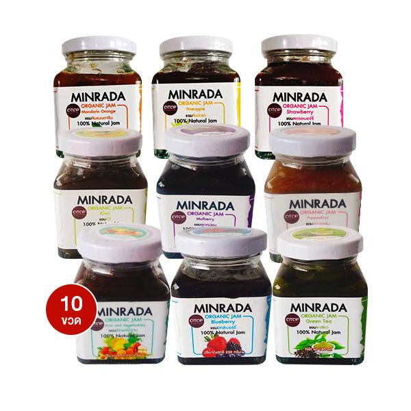 Minrada Organic Jam ขวดละ 220 g บรรจุ 10 ขวด