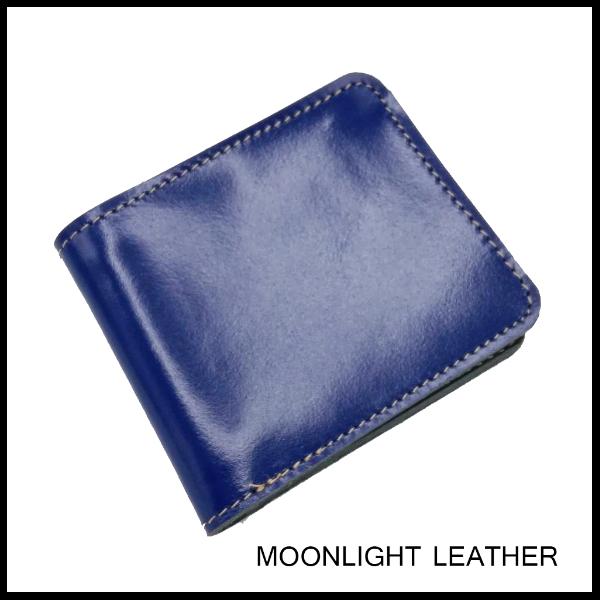 กระเป๋าสตางค์หนังแท้ Moonlight  รุ่น Hercules แฮนด์เมด สีน้ำเงิน