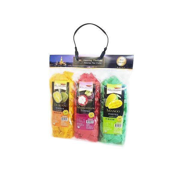 กิ๊ฟเซ็ตท๊อปฟี่ Gife Set Toffee (Durian, Mangosteen, Mango)