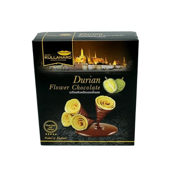 ทุเรียนพับเคลือบช็อคโกแลต Durian Flower Chocolate แบบลัง