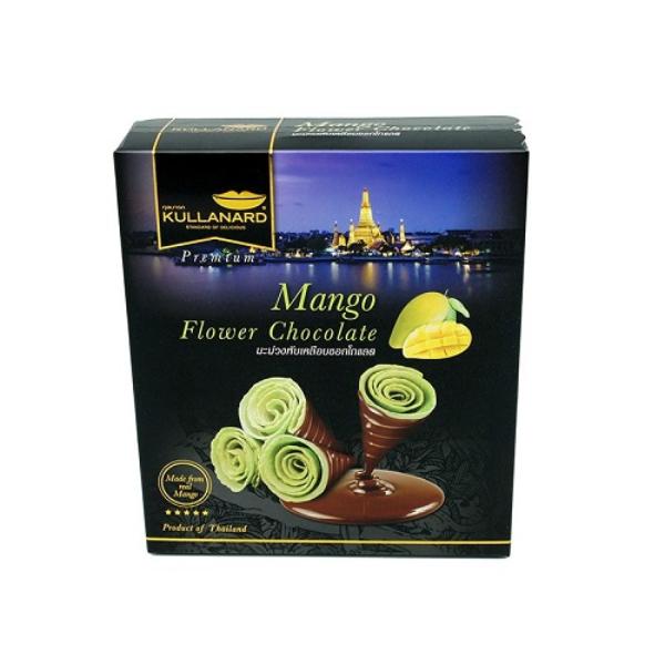 มะม่วงพับเคลือบช็อคโกแลต Mango Flower Chocolate แบบลัง