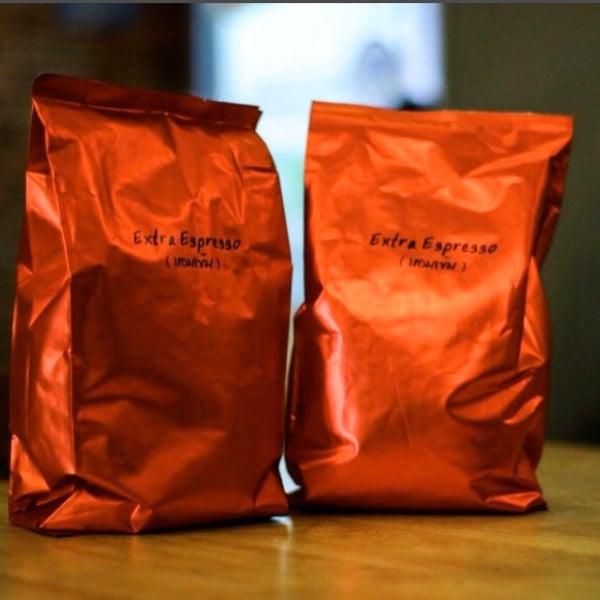 เมล็ดกาแฟสดextra espresso 500 กรัม 2 ถุง