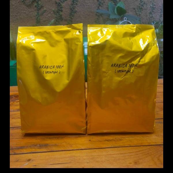 เมล็ดกาแฟสด Arabica 100% 500 กรัม 2 ถุง