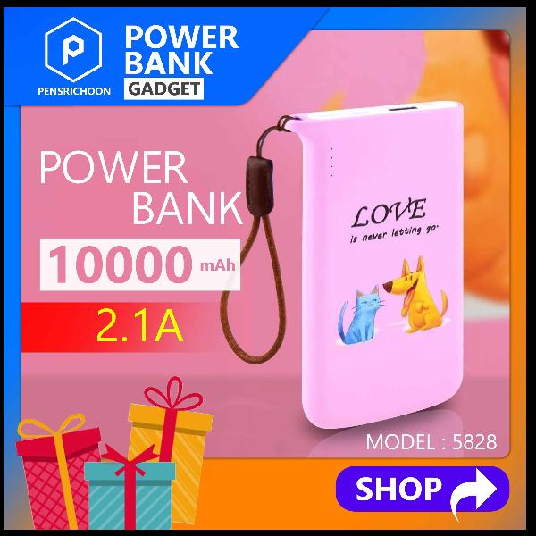 BLL 5828 ขนาด 10000mAh รับประกัน1ปี Powerbank แบตสำรอง 2 ช่องInput ซึ่งสามารถใช้ได้ทั้ง Type-c และ Micro USB ของแท้ 100%