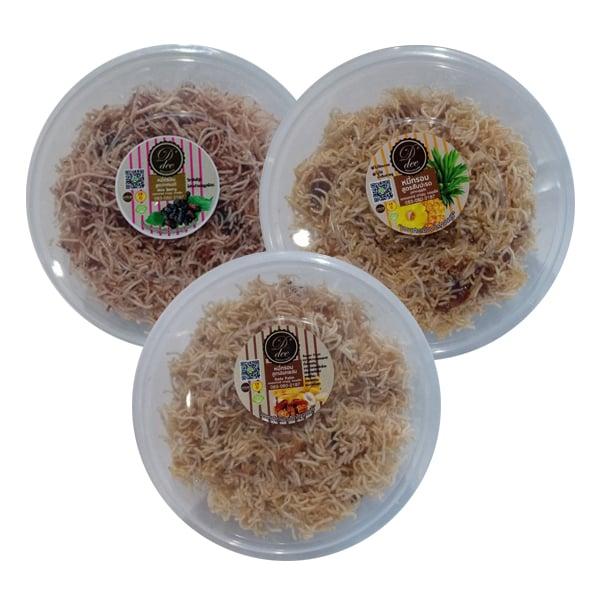 หมี่กรอบ สูตรสับปะรด สูตรอินทผลัม และสูตรมัลเบอร์รี่ 6 กล่อง