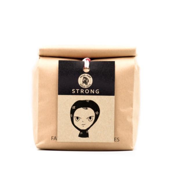 akha ama coffee เมล็ดกาแฟคั่วเข้ม Strong 250 กรัม ไม่บด