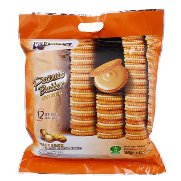 บิสกิตเนยถั่ว ห่อใหญ่ 360g Julie's peanut butter biscuit