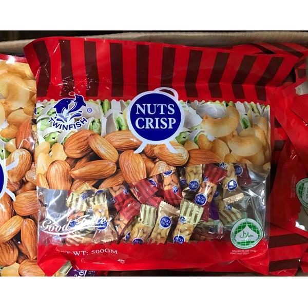Nuts Crisp (ขนมถั่วตุ๊บตั๊บ) nut crisp ขนาด 500 กรัม (40-45 ชิ้น)