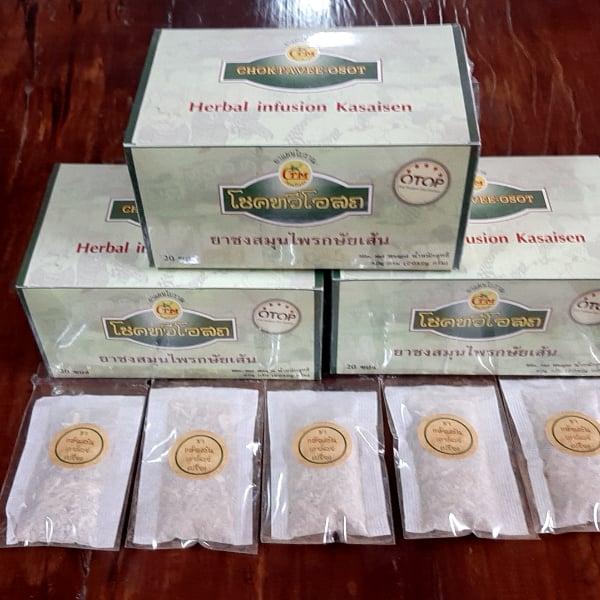 ชาชงกษัยเส้น (เถาวัลย์เปรียง) 3 กล่อง บรรจุ 60 ซอง