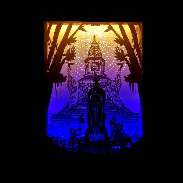 กล่องไฟ3มิต รุ่น (ประจำวันพุธ(กลางคืน) )