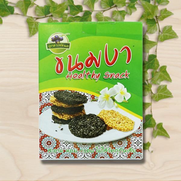 ขนมงาขาว-งาดำ อบกรอบน้ำตาลโตนด (แพ็ค 3 กล่อง)