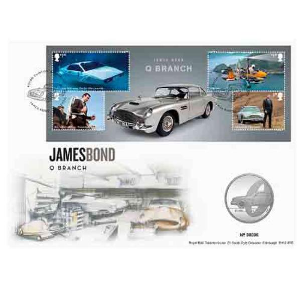 เหรียญโลหะผสมพร้อมซองที่ระลึกภาพยนตร์เจมส์ บอนด์ 007 (ชุด 1)