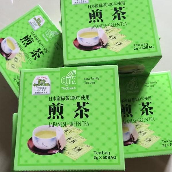 ชาเขียวญี่ปุ่น japanese green tea ตรา OSK 100 กรัม