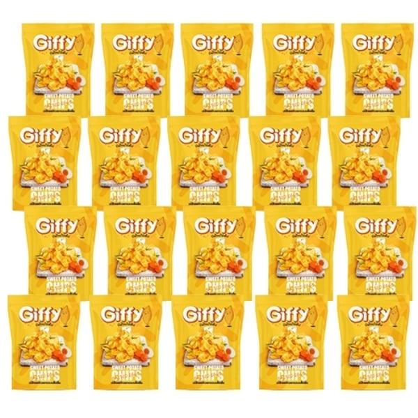 Giffy เซต 20 ถุง มันเทศสีเหลืองรสไข่เค็ม 20 ถุง