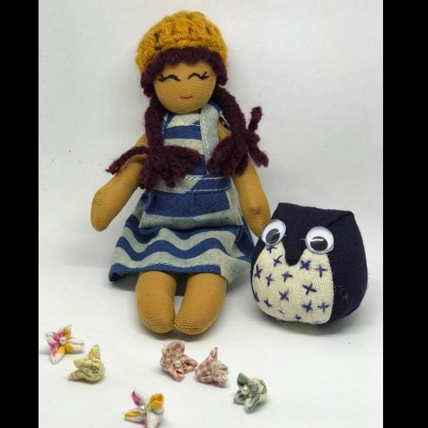 พวงกุญแจ ตุ๊กตา Handmade แถมตุ๊กตานกฮูก