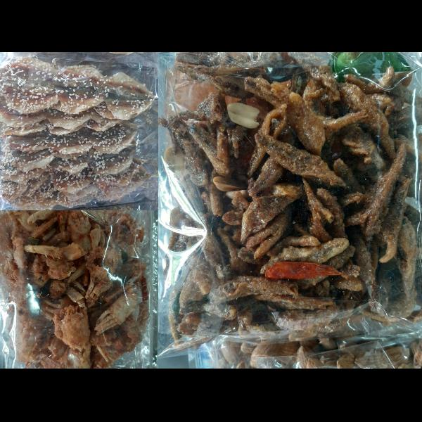 ปูกรอบ,ปลาจิงจั้ง,ปลาข้างเหลือโรยงา นน./แพ็ค 100 กรัม