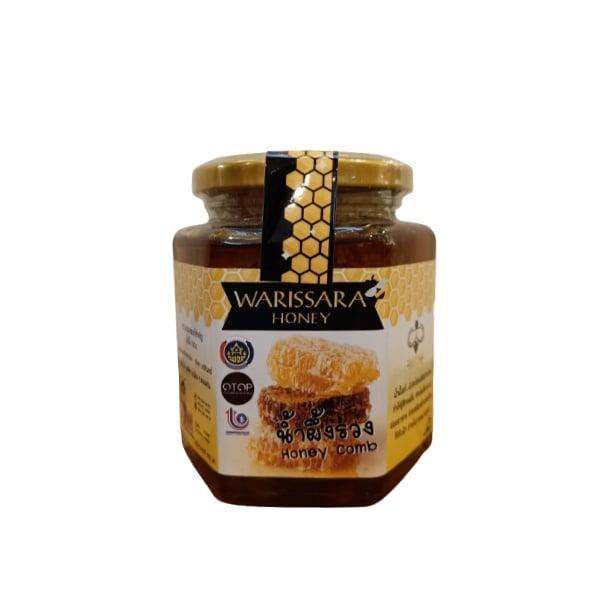 น้ำผึ้งวริศรา น้ำผึ้งแท้ 100% มีรวงผึ้ง แบบกระปุก