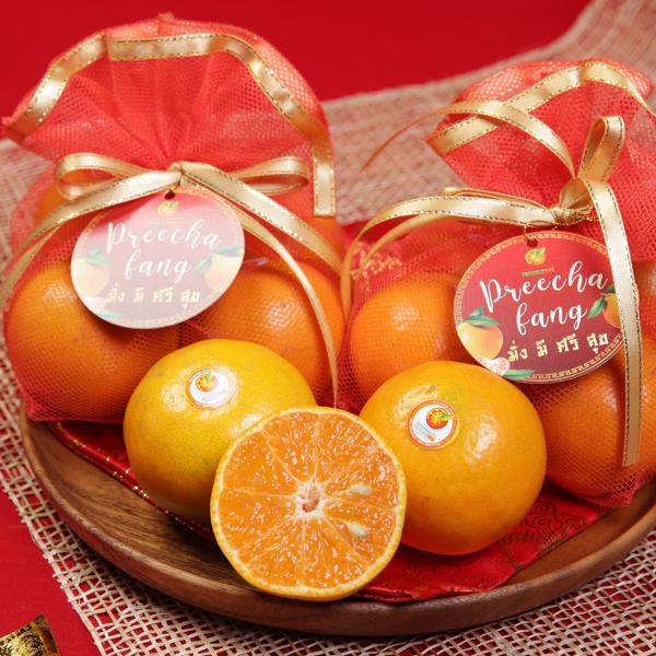 เซ็ตถุงส้มมงคล (ส้มเบอร์ 5 4 ลูก)