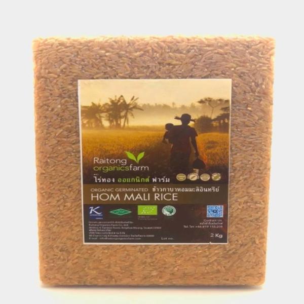 ข้าวกาบาหอมมะลิอินทรีย์ - ไร่ทอง ออร์แกนิกส์ ฟาร์ม