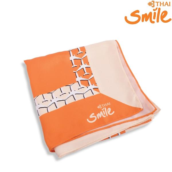 Thai Smile Airways - SMILE SHOP ผ้าพันคอไทยสมายล์ลายสีส้ม